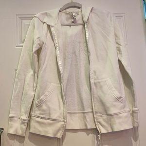 "Zipper-up sweatshirt the rhinestone ""Bride"""